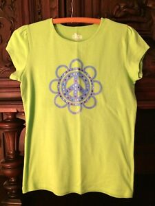 CIRCO XL 14 16 PEACE FLOWER T-SHIRT NWOT SOFT STURDY COTTON REALLY CUTE!