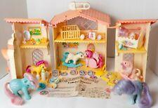 Vintage MLP G1 Lullaby Nursery w/ 7 Ponies and Accessories