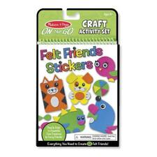 Melissa And Doug On The Go Felt Friends Stickers Craft Activity Set NEW Toys