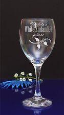 Personalised Engraved White Zinfandel Wine Glass Birthday/Wedding/Accaution 77
