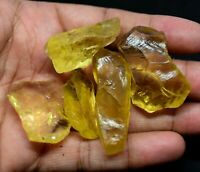 315.0 Ct Natural Lemon Citrine Untreated 5 Pcs Transparent Specimen FACET Rough