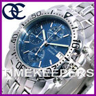 da uomo Oskar Emil Caesium acciaio cronografo Sport orologio quadrante blu