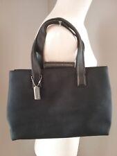 Coach Women's Black Twill Nylon Handbag H9K-7400 Leather Accent *AS IS READ*
