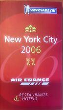 Guide Michelin New York 2006 , logo Air France