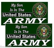 MY SON IS IN THE ARMY HELMET BUMPER PACK OF 4 STICKER DECAL USA MADE