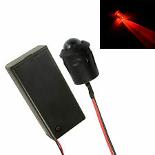 Grande 10 Mm Led Intermitente Rojo Coche, Moto, arrojar ficticia falsa alarma + Soporte