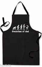 EVOLUTION OF DAD DESIGN APRON KITCHEN BBQ COOKING FATHERS DAY PAINTING GIFT