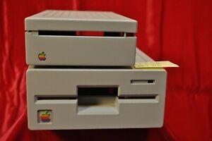 "Vintage Apple II  5 1/4"" AND 3 1/2"" Floppy Disk Drive CASES RESTORED EXCELLENT"