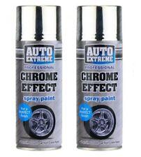 2 x 400ml  Auto Chrome Foil Mirror Metallic Effect Auto Spray Paint Car Aerosol.