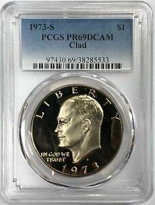 1973 S $1 Eisenhower Ike Clad Dollar PCGS PR69DCAM