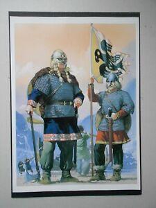 MILITARY FINE ART PRINT- VIKING WARRIORS NORWAY 10TH CENTURY -BY ANGUS MCBRIDE