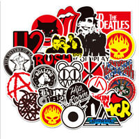 Lot of 50Pcs Punk Retro Metal Heavy Rock n Roll Vintage Music Band Stickers