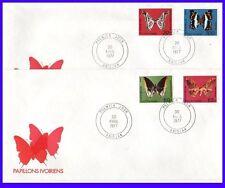 FDC Enveloppe 1er Jour: Lot de 2 enveloppes Papillons Ivoiriens 1977  Rare