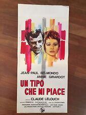 locandina,S/8, UN TIPO CHE MI PIACE homme qui me plaît BELMONDO,Girardot 1970