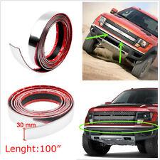 2.5M Car Bumper Door Edge Lip Guard Chrome Decor Protector Moulding Trim Strip
