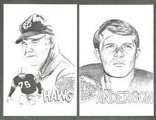 (13) Green Bay Packers 4x6 Art Cards Nitschke Lofton Davis Ringo Anderson Bowman