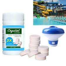 100g Pool Cleaning Tablets + Floating Chlorine Chemical Dispenser Tub Clean Kit