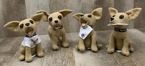 Taco Bell Plush Stuffed Animal Dog Talking Toy Chihuahua Lot of 4 Chalupa 🔥