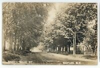RPPC North Main Street NAPLES NY Finger Lakes Ontario County Real Photo Postcard