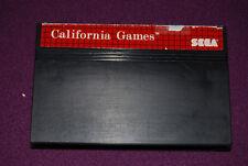 CALIFORNIA GAMES - Epyx/Sega - Jeu Sport Master System PAL
