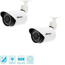 2x 700TVL Bullet Outdoor CCTV Surveillance Security Camera Day/Night Vision H8W5