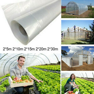CLEAR PLASTIC GREENHOUSE FILM THICKNESS COVER PLASTIC COVERING SHEET OPULENT UK
