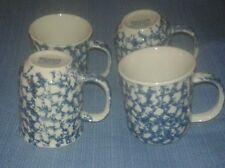 Tienshan Folk Craft Sponge Blue Mugs (set of 4)