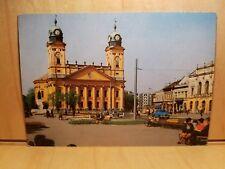 W52) Postcard DEBRECEN Reformed Church Photo Tulok Ferenc vintage auto park