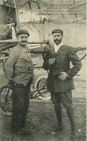 c1910 Early Aviation Maurice Herbster Aviator Aircraft Photo Farman Postcard