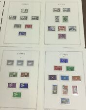 MOMEN: CYPRUS 1937-1963 MINT COLLECTION ON 4 HINGELESS PAGES LOT #6061