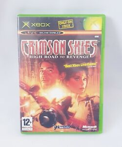 Microsoft Crimson Skies High Road To Revenge XBOX Retro Video Game PAL