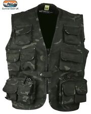Kombat Kids Tactical Vest BTP Black Camo Waistcoat Children Army / Age 12-13