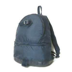 A.P.C. Ripstop nylon daypack Navy Leather Backpack Bag