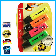 Stabilo Boss Highlighter Assorted 4 Pack Home Office School Student Kids Desk MW