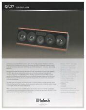 Mcintosh XR 27 Speaker Original Brochure