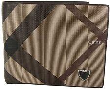 Thomas Calvi Deluxe Wallet Beige, Brown & Rust Coloured Diagonal Pattern
