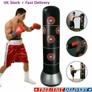 Kids Standing Punch Bag Inflatable with Pump 160cm Kick Training Boxing Gift