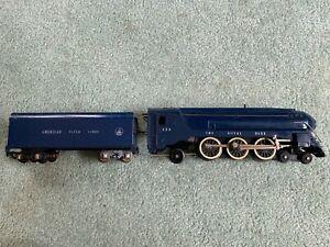 American Flyer #350 B&O Royal Blue engine loco AFL tender wire handrail runs '48