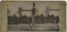 UK Stereo View Card Artillery Tower Bridge. British Army. More 3D Images Listed