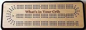 What's In Your Crib Three Track Cribbage Board