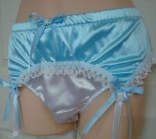 Nel-jen  Adult Sissy  4 Strap  Lt. Blue & White  Garter Belt  - SATIN & LACE -