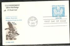 US SC # UZ3 Official Mail Postage FDC. Artcraft Cachet