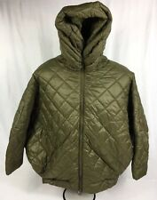 NWT Without Walls Urban Outfitters Olive Quilted Cocoon Puffer Jacket Coat M/L