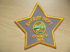 Patches: SHERIFF DEPARTMENT COUNTY IND (New, 4.6x46 inch)