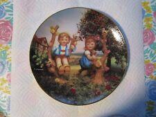 1992 M.J. Hummel [Plate No.Va6207] Little Companions [Apple Tree Boy And Girl]!
