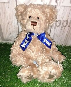Rare Russ Berrie 'SHAKY' CRUSHA Big Milkshake Theme Beige Pointy Nose Teddy Bear