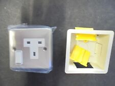 Electrical SS Outlet Panel Plate EUROPEAN WALL  Socket , SWITCH AND DRY BOX