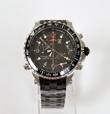 NEW-TX 700 SERIES BLACK TONE,SPORT FLY BACK,DUAL TIME ZONE,S/STEEL WATCH T3B921