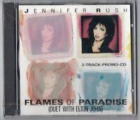 Jennifer Rush SEALED OVP 3track Promo-CD FLAMES OF PARADISE duet with Elton John