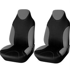 Four Seasons Universal Car Driver's Seat Cover Gray & Black Stretchable Material